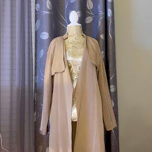 H&M Long Beige Trench Coat